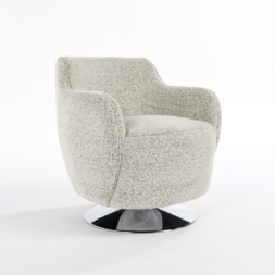 Leslie Swivel Accent Chair Gray